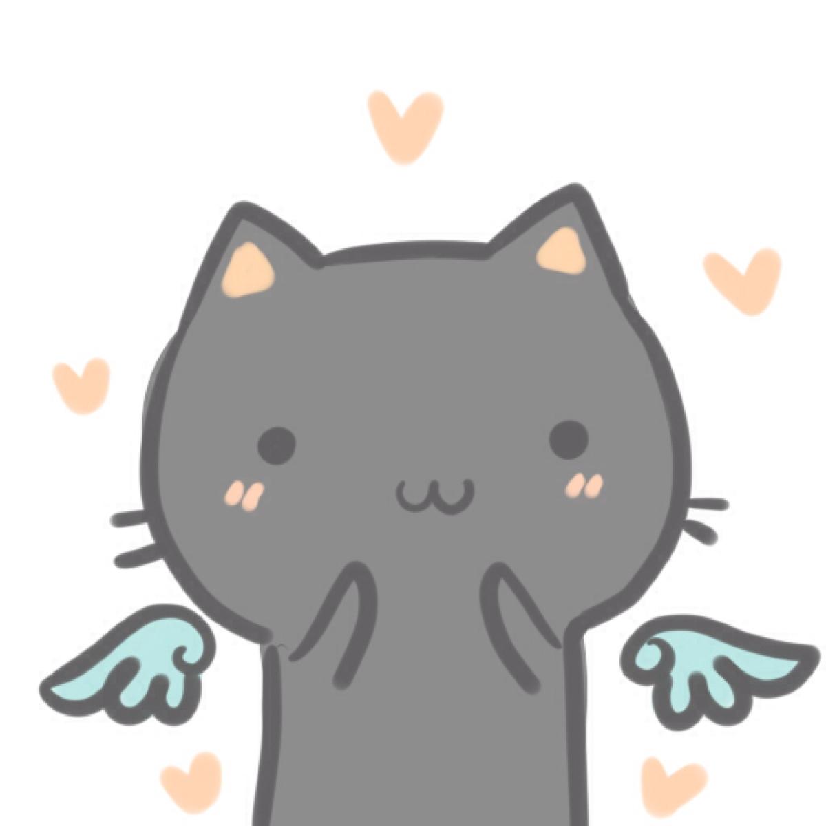 黑白猫高清情侣头像