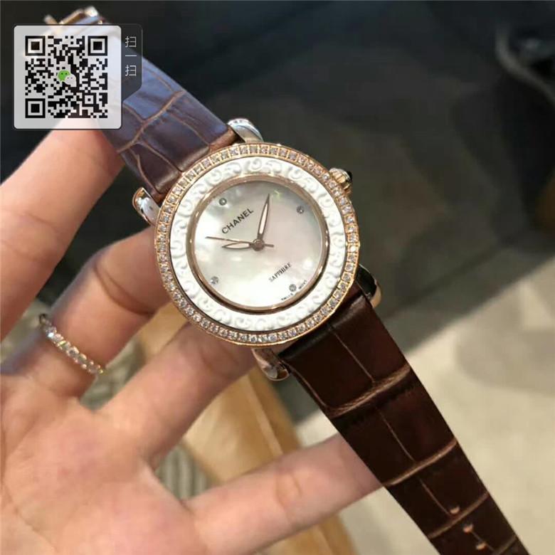 高仿OMEGA 欧米茄女士表精钢表带37MM图片