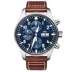 精仿万国IWC自动机械男表IW377714棕色皮带 高仿新款飞行员系列手表 ☼