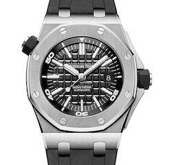 高仿爱彼AP15710ST手表精仿皇家橡树离岸型系列手表黑色面盘自动机械男表 ☼