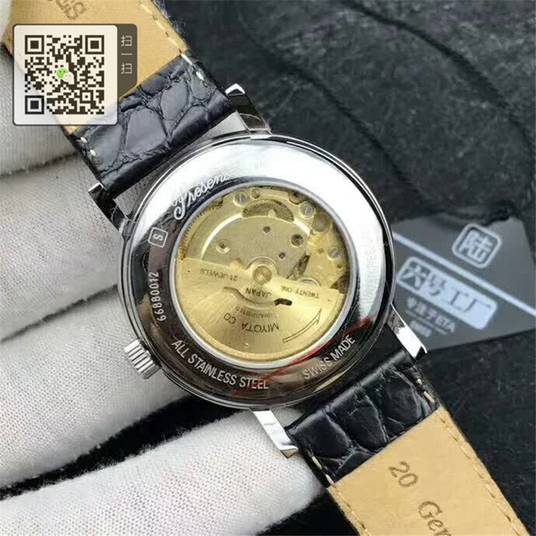 高仿浪琴手表瑰丽系列手表自动机械皮带男表L4.921.2.12.2 鳄鱼皮金色表框图片