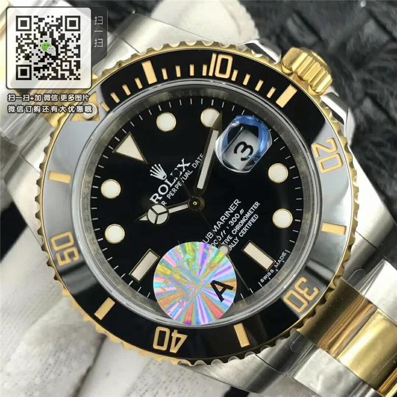 精仿劳力士潜航者型116613-LN-97203黑盘 男款自动机械腕表图片