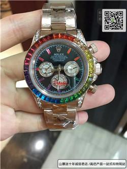 精仿劳力士宇宙计型迪通拿系列116595 RBOW腕表 ☼