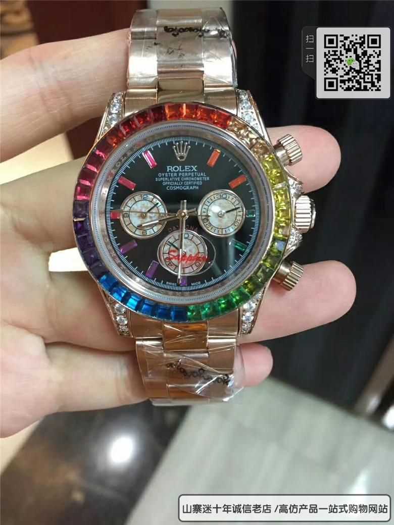 精仿劳力士宇宙计型迪通拿系列116595 RBOW腕表图片