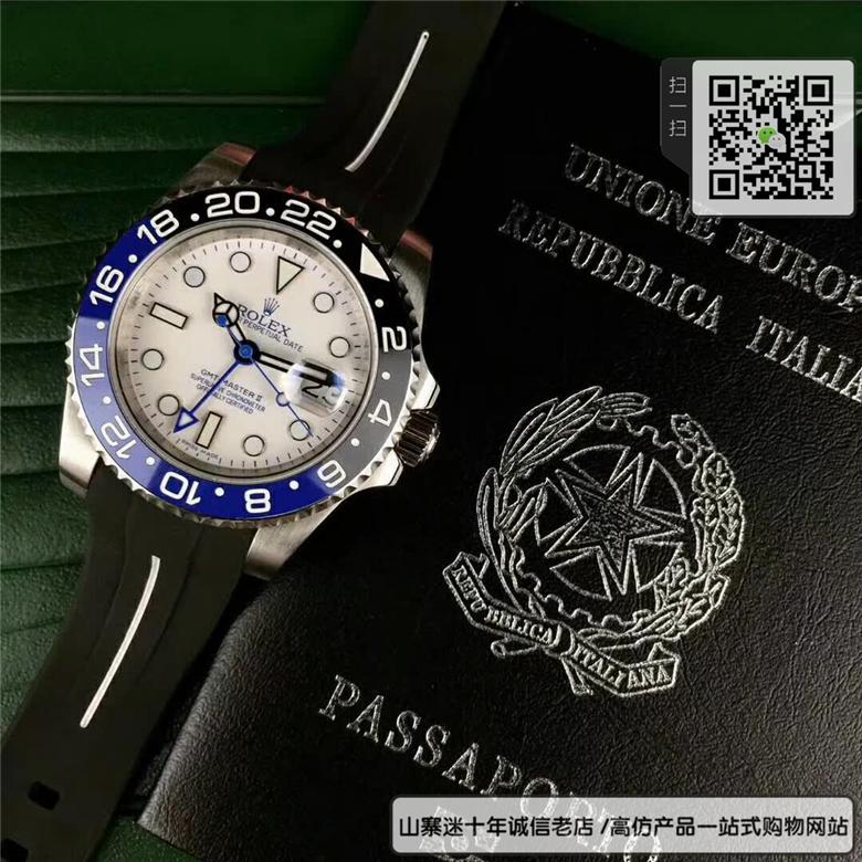 精仿劳力士格林尼治型II系列男表 高仿116710BLNR-78200手表(蓝黑圈)图片