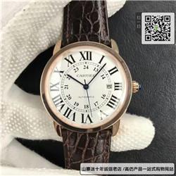 精仿卡地亚RONDE DE CARTIER系列男表 复刻W6701009手表 ☼