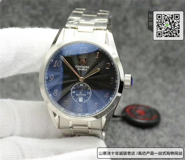 复刻版泰格豪雅卡莱拉系列男表 高仿WAS2111.BA0732手表图片