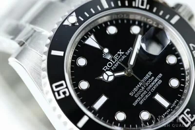 精仿劳力士潜航者型系列男表  复刻版116610LN-97200 黑盘腕表(黑水鬼)图片