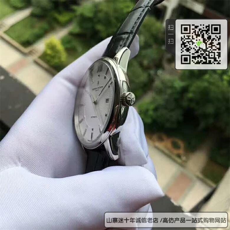精仿江诗丹顿男表真皮表带自动机械表42MM图片