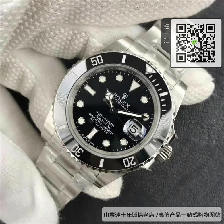 高仿劳力士潜航者型系列男表  精仿116610LN-97200 黑盘手表(黑水鬼)图片