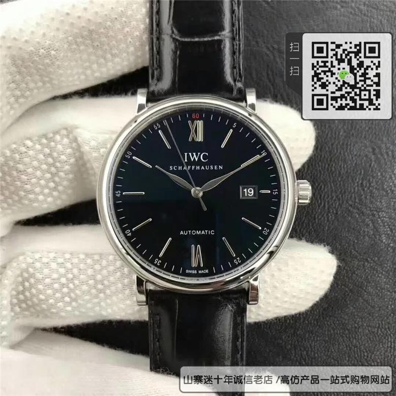 精仿IWC万国表柏涛菲诺系列男表  高仿IW356502腕表图片