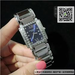 复刻版百达翡丽TWENTY~4系列女表  精仿4910/10A-012 不锈钢 蓝盘手表 ☼