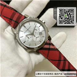 精仿巴宝莉手表男表BU9752三眼计时格纹石英男士手表 ☼