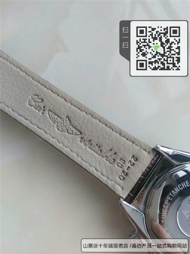 精仿百年灵机械计时系列男表真皮表带防水手表图片
