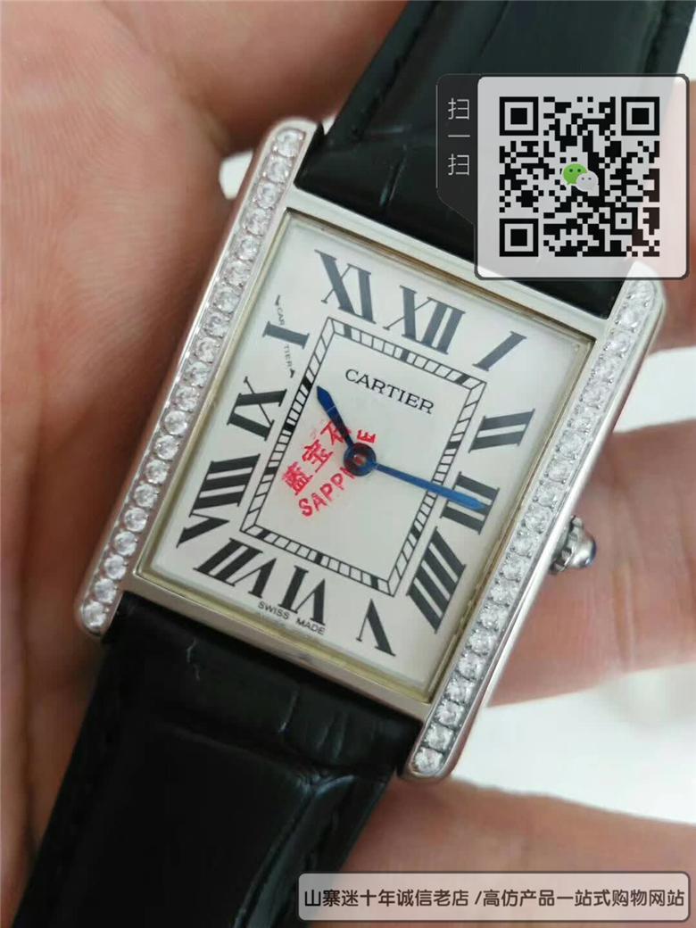 精仿卡地亚坦克系列情侣表 高仿W5200005手表图片