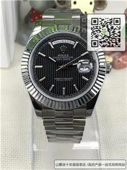 高仿劳力士星期日历型系列男表  精仿228239黑色表盘手表 ☼