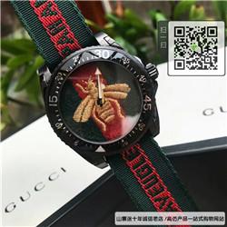 精仿古驰蜜蜂尼龙带系列 高仿YA136216手表 ☼