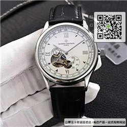 复刻版江诗丹顿男士腕表牛皮表带自动机械手表42MM ☼