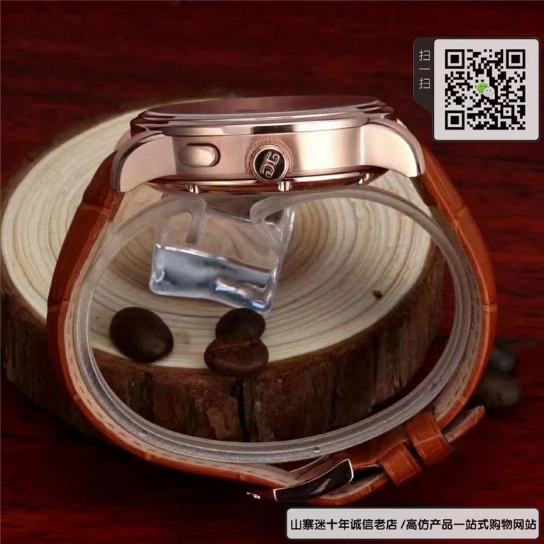 高仿格拉苏蒂男表自动机械表牛皮表带精钢材质46MM图片