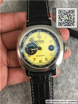 精仿法拉利真皮表带两针半自动机械手表 ☼