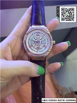 精仿伯爵女款表真皮表带机械表精钢表壳表圈镶钻☼