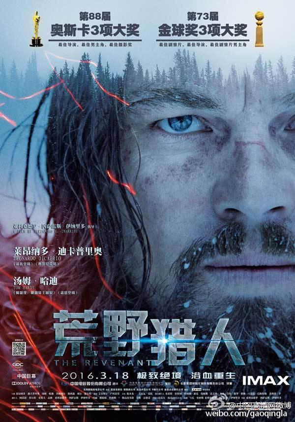 小李子获得奥斯卡小金人之作~2015年奥斯卡大热们电影《荒野猎人》