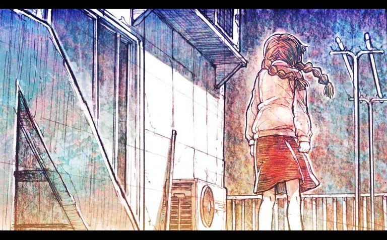 「动漫图集」阳台上晒太阳-萌宅社|一个ACG资源基地、绅士之家Σ(゜ロ゜;)