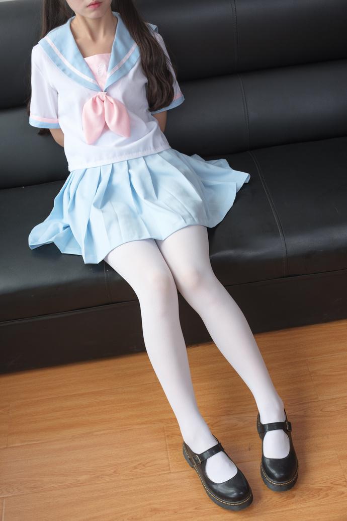 天蓝色白丝小姐姐 清纯丝袜