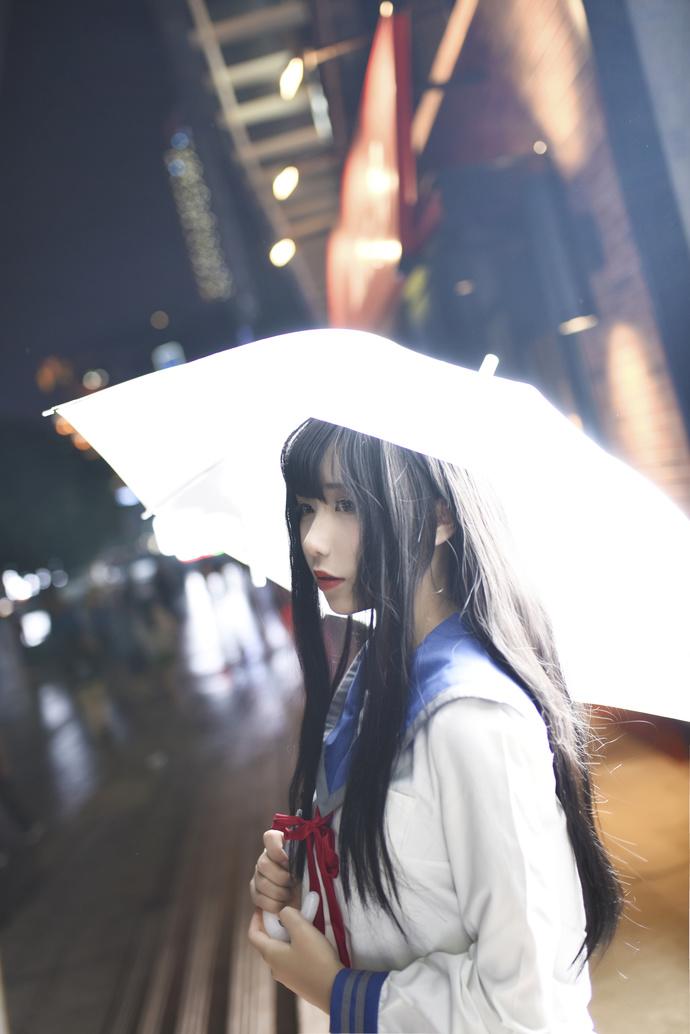妹子就喜欢打伞 中日妹子