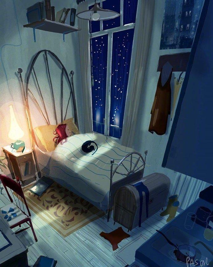晚安说说心语200213:我将永远忠于自己,披星戴月的奔向理想与自由