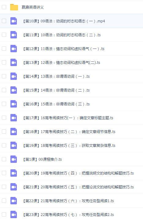赢鼎网校一点马高考名师机器人课程:宋焕然英语【19800元】