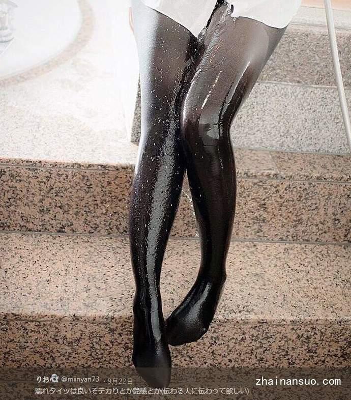 日本白嫩美腿少女演绎湿身黑丝袜诱惑大胆又刺激!-宅男说