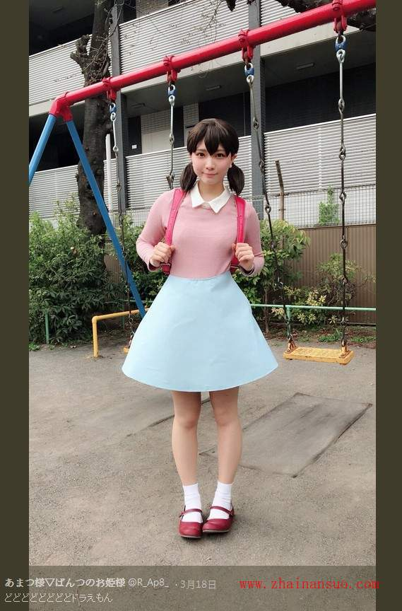 哆啦A梦真人版静香 あまつ様cosplay静香诠释可爱-宅男说