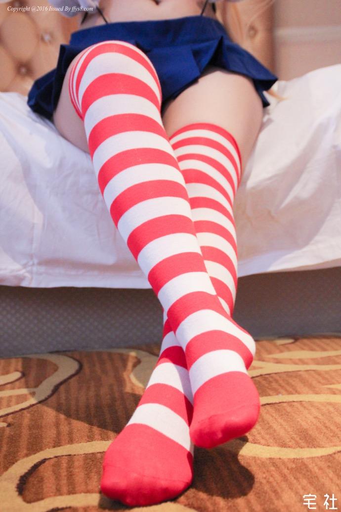 「少女映画」舰队超纯真少女岛风的红白裤袜 妹子图
