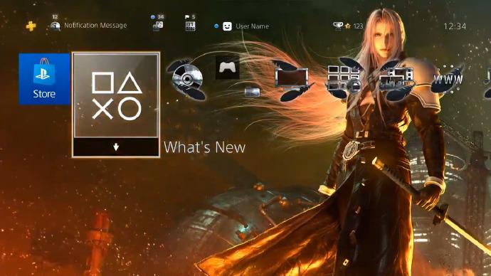 [最终幻想7 重制版][Final Fantasy VII] 预定上架的PS4用主题