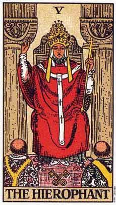 塔罗卡牌「教皇」在占卜爱情方面的解释