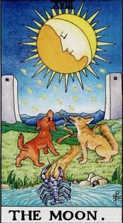 塔罗卡牌「月亮」在占卜爱情方面的解释
