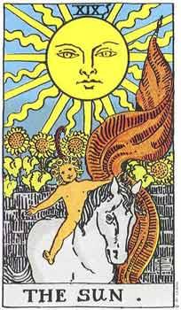 塔罗卡牌「太阳」在占卜爱情方面的解释