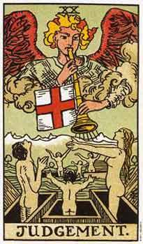 塔罗卡牌「审判」在占卜爱情方面的解释