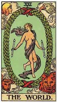 塔罗卡牌「世界」在占卜爱情方面的解释