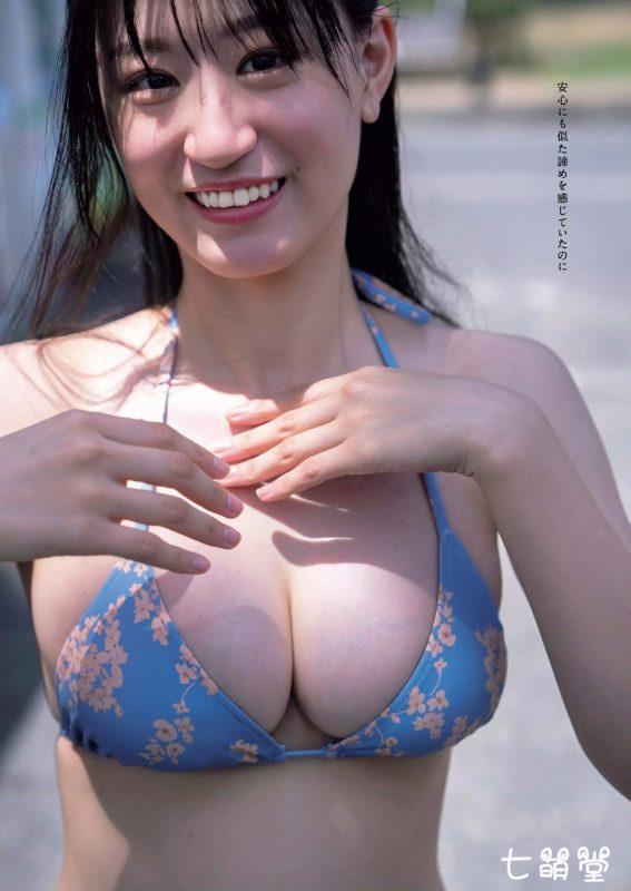 【上西怜】NMB48的第一美胸,水着写真让人浮想联翩! 妹子图鉴