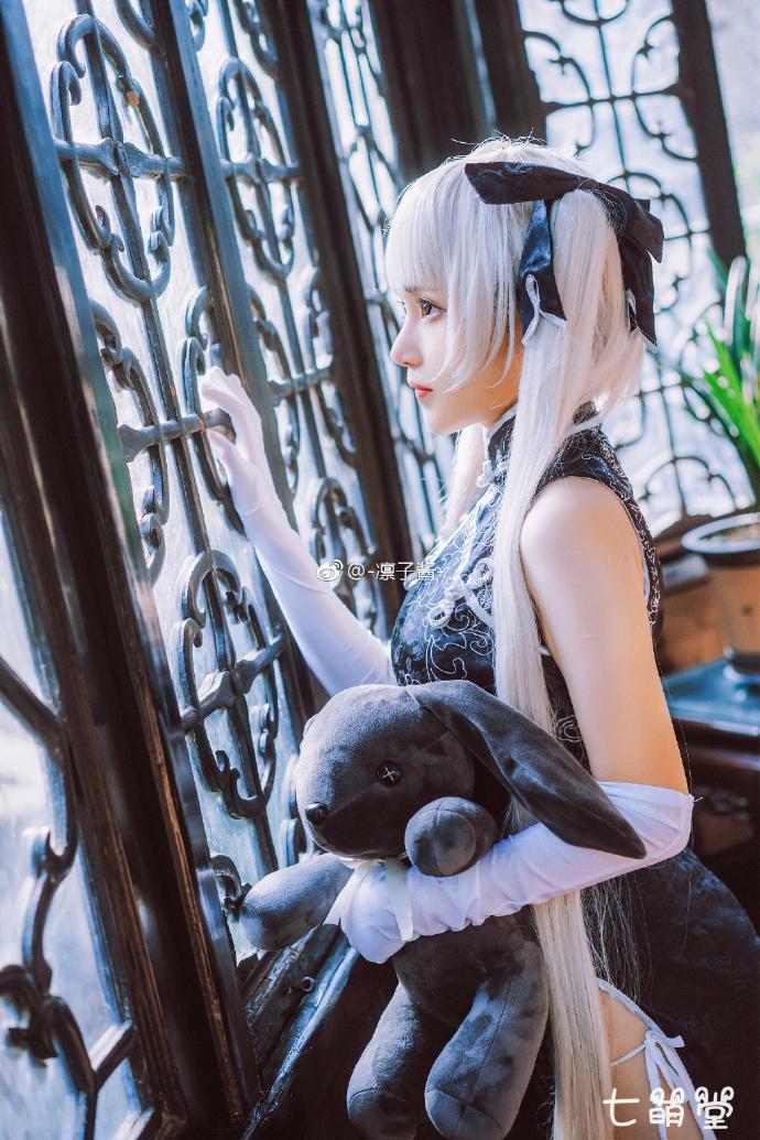 【凛子酱】cosplay春日野穹黑旗袍穹妹,能猜出她的年龄吗? COS在线