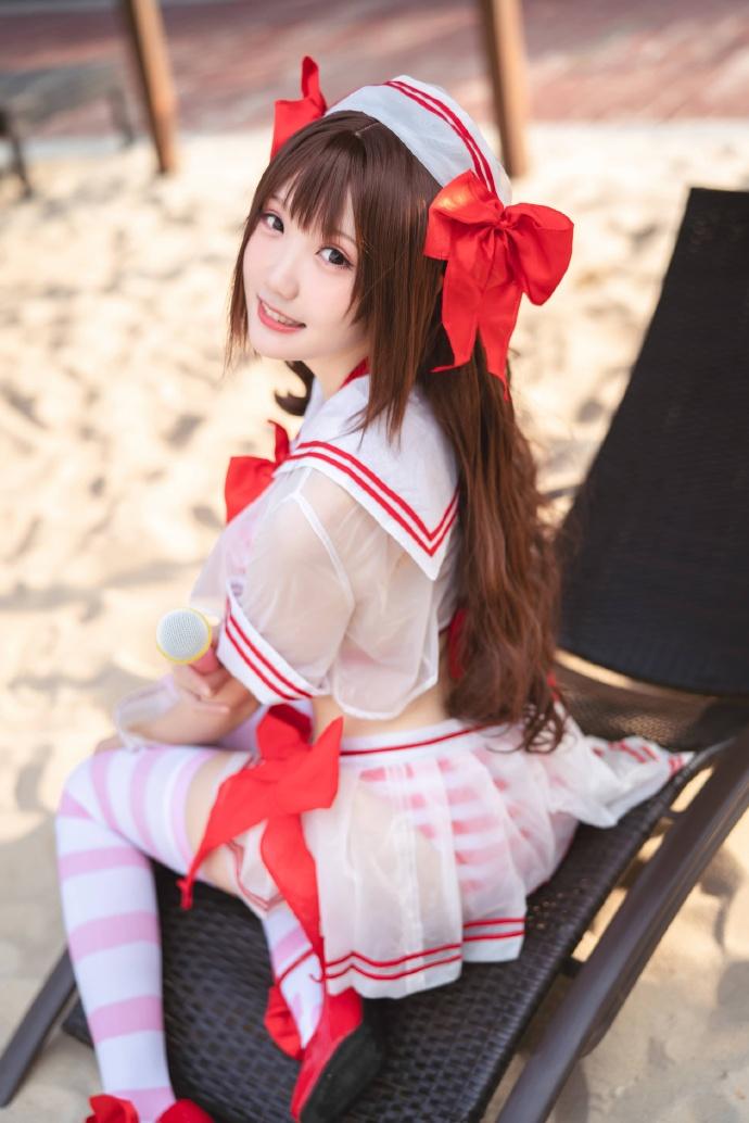 【瓜希酱】cosplay《偶像大师》岛村卯月泳装在线欣赏! 次元美图