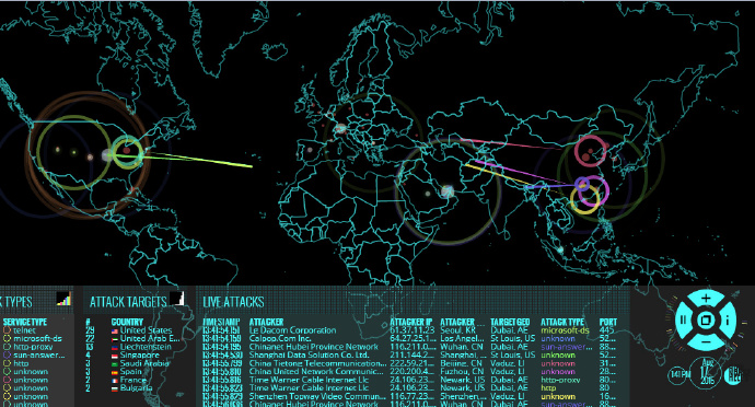 Norse全球网站攻击源展示网站 第1张