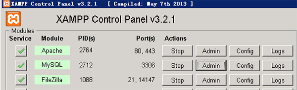 XAMPP修改MySQL root空密码后不能登录 第1张