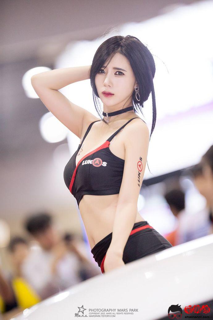 韩国模特宋珠娥,赛车现场美图!