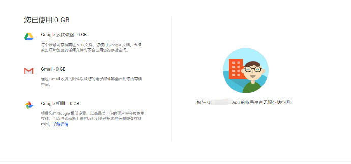使用国外教育邮箱登录谷歌网盘获得无限容量挂载在系统盘 第6张