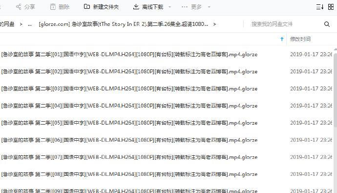 东方卫视急诊室故事人文情怀纪录片1080P百度云网盘下载 第1张