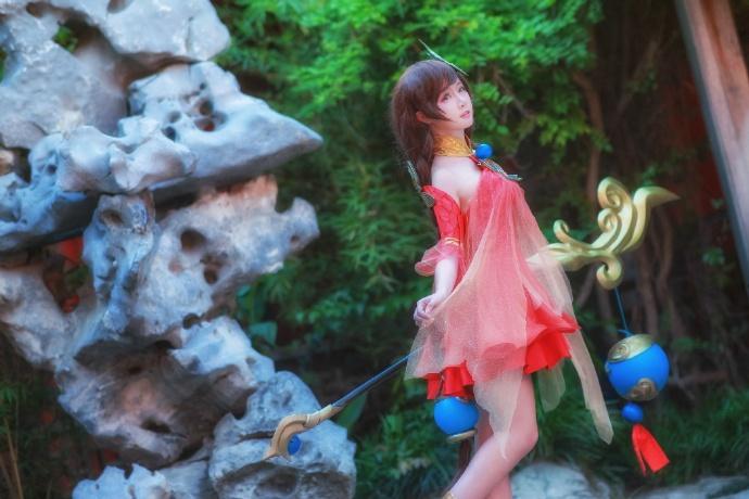 【cos正片】王者荣耀 大乔 守望着天空 大海 和你的回忆 cn:yui金鱼 cosplay-第8张