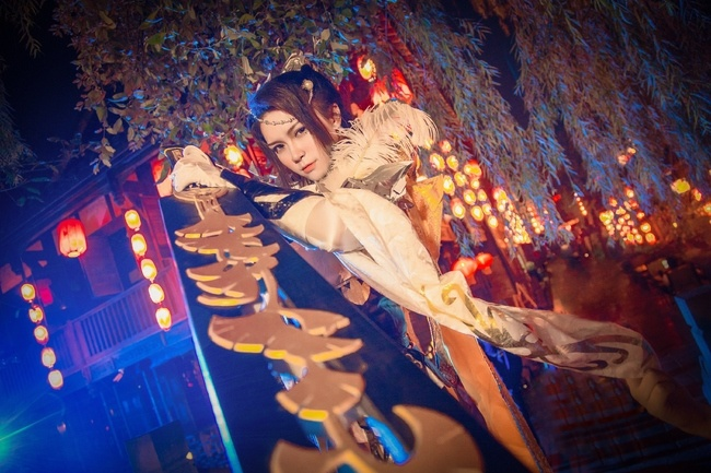 【cos正片】剑网3——藏剑·破虏二小姐 cn:寒殇 cosplay-第1张